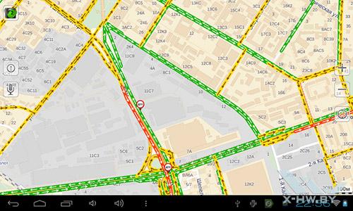 Яндекс.Карты на PocketBook SURFpad. Рис. 2