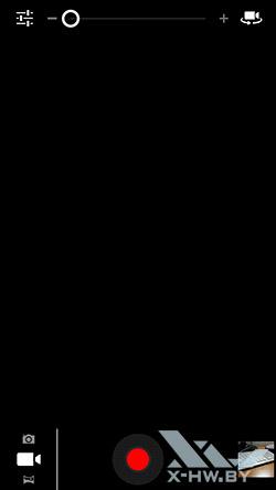 Интерфейс съемки видео камерой Highscreen Explosion