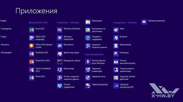 Приложения Windows RT. Рис. 2