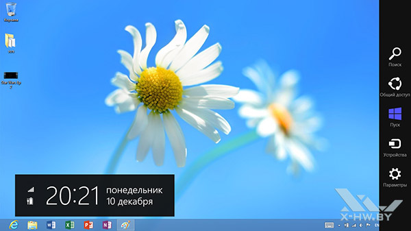 Панель Charms в Windows RT