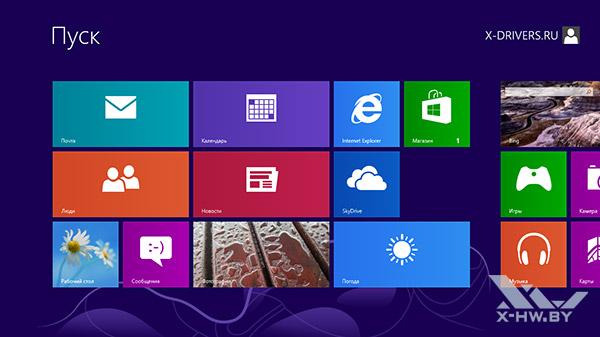 Стартовый экран в Windows RT
