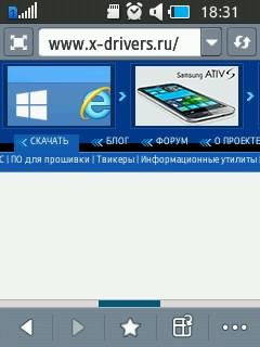 Браузер Samsung Rex 70. Рис. 2