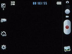Интерфейс для съемки видео камерой Samsung Rex 70