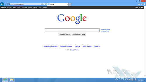 Internet Explorer 11 в Windows Blue. Рис. 3