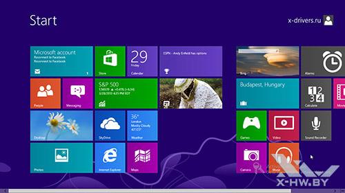 Стартовый экран Windows Blue