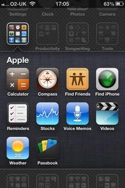 Папка Apple в iOS