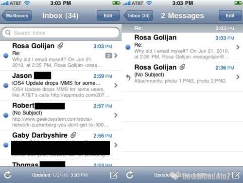 Почтовый клиент Mail в iOS