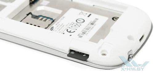 Слот для карты microSD на Samsung Galaxy Fame