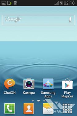 Рабочий стол Samsung Galaxy Fame. Рис. 2