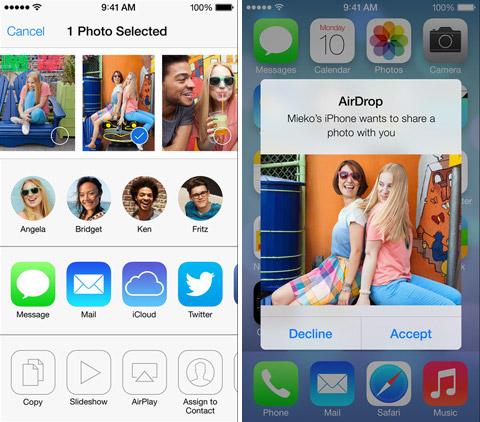 AirDrop в iOS 7