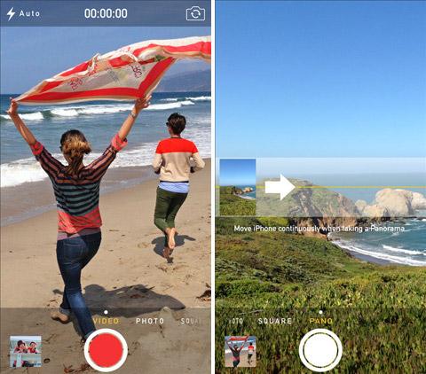 Камера на iOS 7