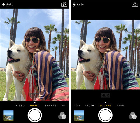 Параметры изменения кадров камерой iOS 7