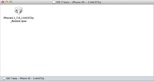 IPSW-файл внутри DMG-образа