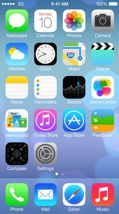 Рабочий стол iOS 7