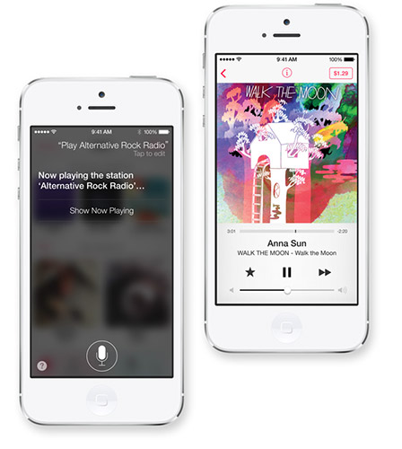 iTunes Radio в iOS 7. Рис. 2