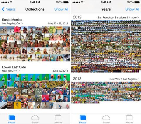 Приложение Photos в iOS 7