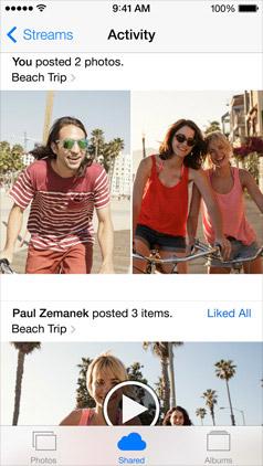 iCloud Photo Sharing в iOS 7