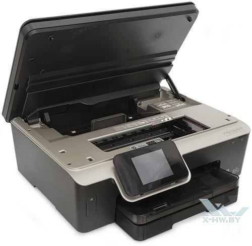 HP Deskjet Ink Advantage 6525 с поднятой крышкой