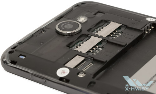 Разъемы для SIM-карт и microSD на Lexand Callisto