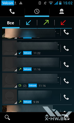 Приложение для звонков Prestigio MultiPhone 4300 DUO. Рис. 3
