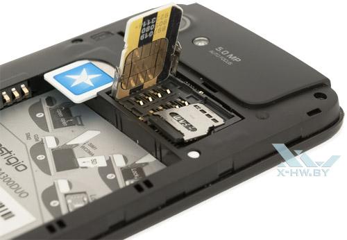 SIM-карта в Prestigio MultiPhone 4300 DUO