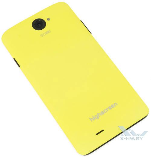 Highscreen Omega Prime XL в желтой крышке