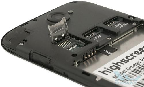 Разъем для карты памяти на Highscreen Omega Prime XL