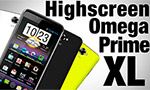 Лопатофон со сменными панелями - Highscreen Omega Prime XL