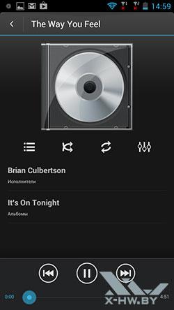 Музыкальный плеер на Highscreen Omega Prime XL. Рис. 1