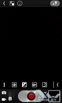 Интерфейс съемки видео на Alcatel One Touch Star. Рис. 1