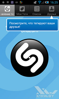 Shazam на Alcatel One Touch Star