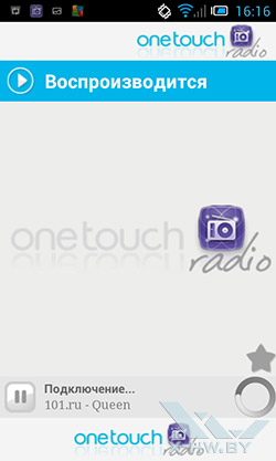 One touch Radio на Alcatel One Touch Star. Рис. 1