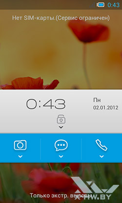 Экран блокировки Alcatel One Touch Star