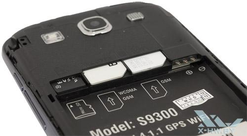 Разъемы для microSD и SIM-карт на Star S9300