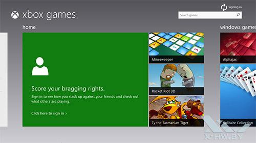 Xbox Games в Windows 8.1