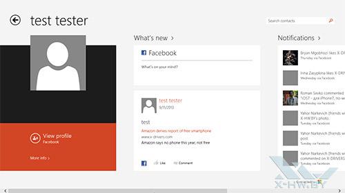 Приложение People в Windows 8.1. Рис. 2