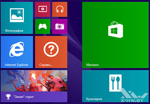 Плитки Windows 8.1