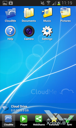 Android-клиент CloudMe