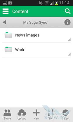 Android-клиент SugarSync