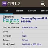 CPU-Z на Samsung Galaxy Gear. Рис. 2