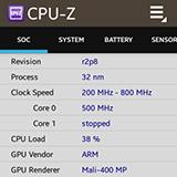 CPU-Z на Samsung Galaxy Gear. Рис. 3