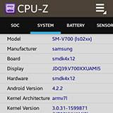 CPU-Z на Samsung Galaxy Gear. Рис. 4