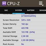 CPU-Z на Samsung Galaxy Gear. Рис. 5