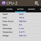CPU-Z на Samsung Galaxy Gear. Рис. 6