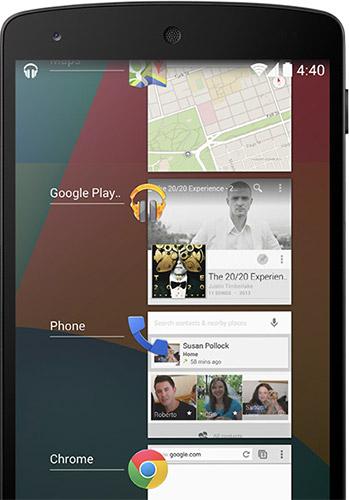 Многозадачность в Android 4.4