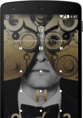 Фон Android 4.4 при воспроизведении аудио или видео