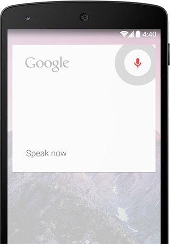 Поиск Google Now в Android 4.4
