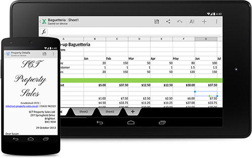 Quickoffice в Android 4.4