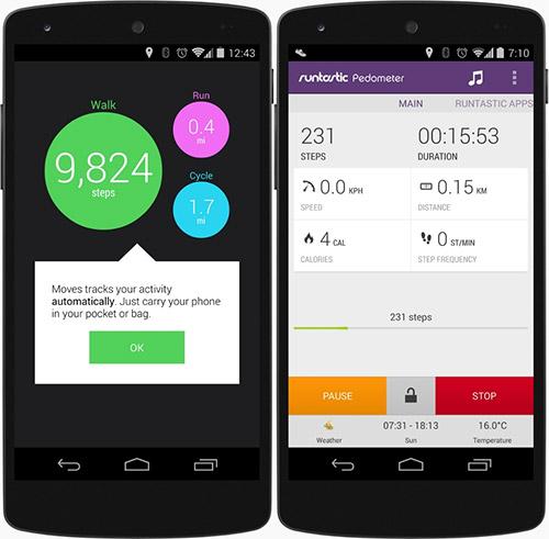 Шагомер в Android 4.4