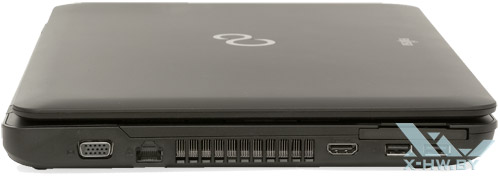 Левый торец Fujitsu LIFEBOOK AH502